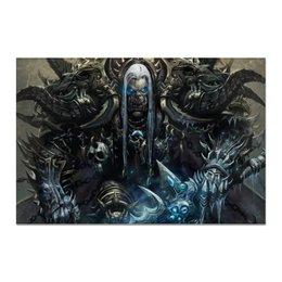 """Холст 20х30 """"Орк на троне"""" - world, warcraft, орда, варкрафт, орки"""