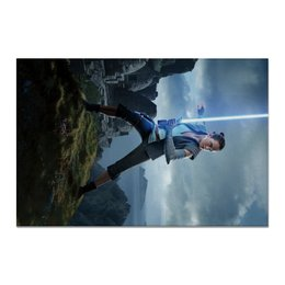"Холст 20х30 ""Звездные войны - Рей"" - кино, фантастика, star wars, звездные войны, дарт вейдер"
