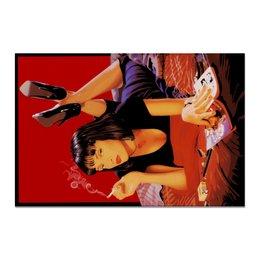 """Холст 20х30 """"Pulp Fiction (Ума Турман)"""" - ума турман, тарантино, криминальное чтиво, mia, культовое кино"""