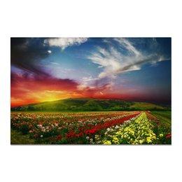 """Холст 20х30 """"Nature Flowers"""" - цветы, flowers, закат, sunset, sundown"""