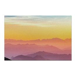 "Холст 20х30 ""Без названия"" - небо, природа, закат, горы, пейзаж"