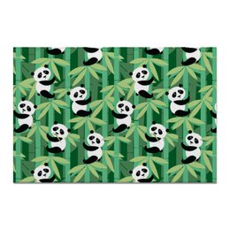 "Холст 20х30 ""Жизнь панд"" - узор, животные, панда, лес, бамбук"