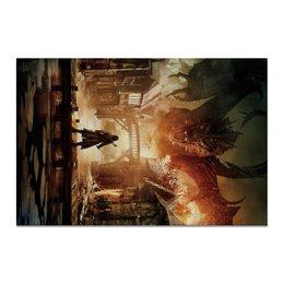 """Холст 20х30 """"Хоббит"""" - дракон, кино, властелин колец, hobbit, фродо"""