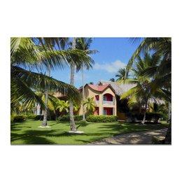 """Холст 20х30 """"""""Доминикана. Тропический сад"""""""" - лето, путешествия, travel, пальмы, доминикана"""