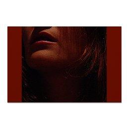 """Холст 20х30 """"Страсть."""" - девушка, губы, рот, страсть, скулы"""