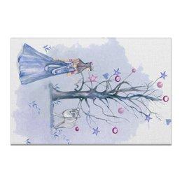 """Холст 20х30 """"Волшебный лес"""" - животные, волк, детская, детская иллюстрация, декор детской"""