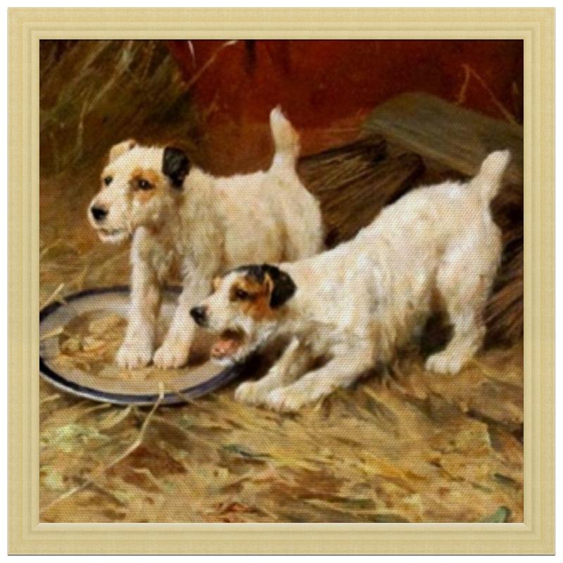 Холст 30x30 Printio 2018 год желтой собаки репродукция ржавый рассвет 500х700мм холст