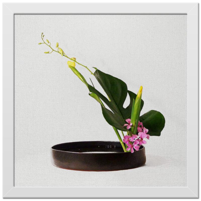 Холст 30x30 Printio Икебана / ikebana холст 30x30 printio фредди меркьюри