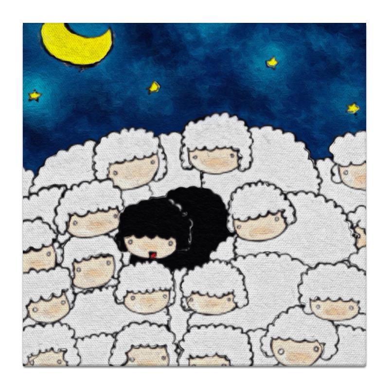 Холст 30x30 Printio Be an individual amongst the sheep подушка для сидений beating the sheep