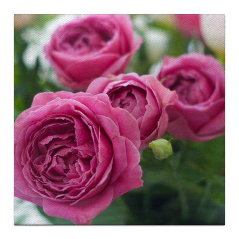 Холст 30x30 Printio Розовые розы ли лори розы зимой классическая английская проза в переводах н я тартаковской