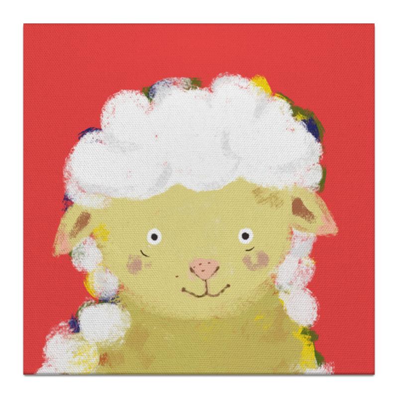 Холст 30x30 Printio Милая овечка! wellber стельное белье для детской кровати 145x100cm