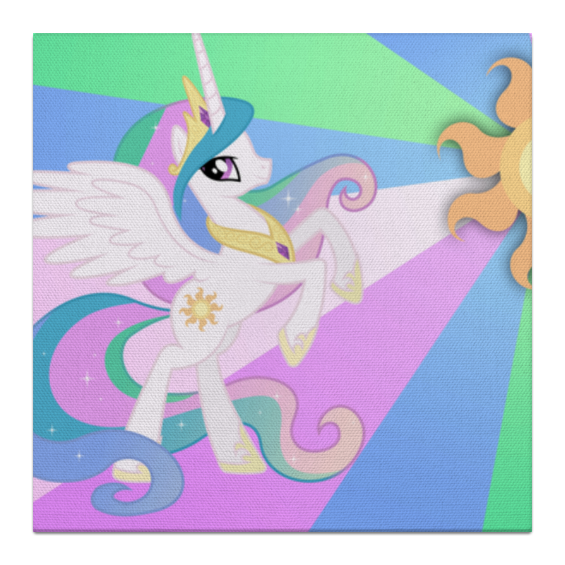 Холст 30x30 Printio Princess celestia color line