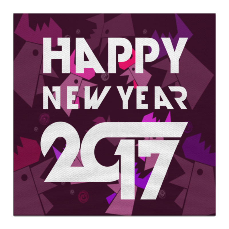 Холст 30x30 Printio Happy new year