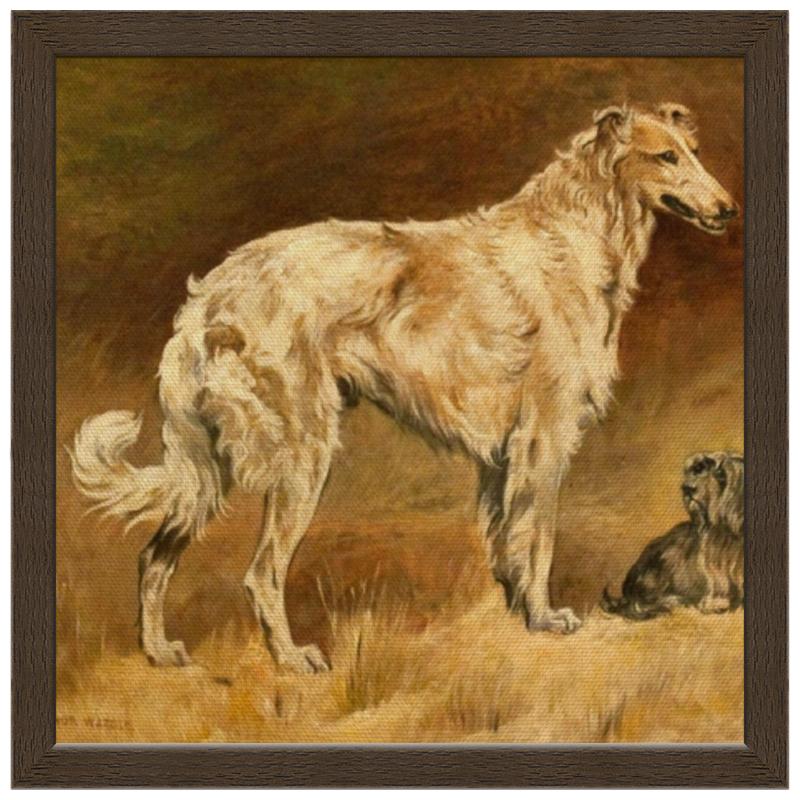 Холст 30x30 Printio 2018 год желтой собаки