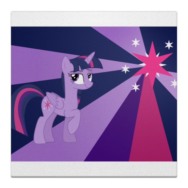 Холст 30x30 Printio Twilight sparkle color line