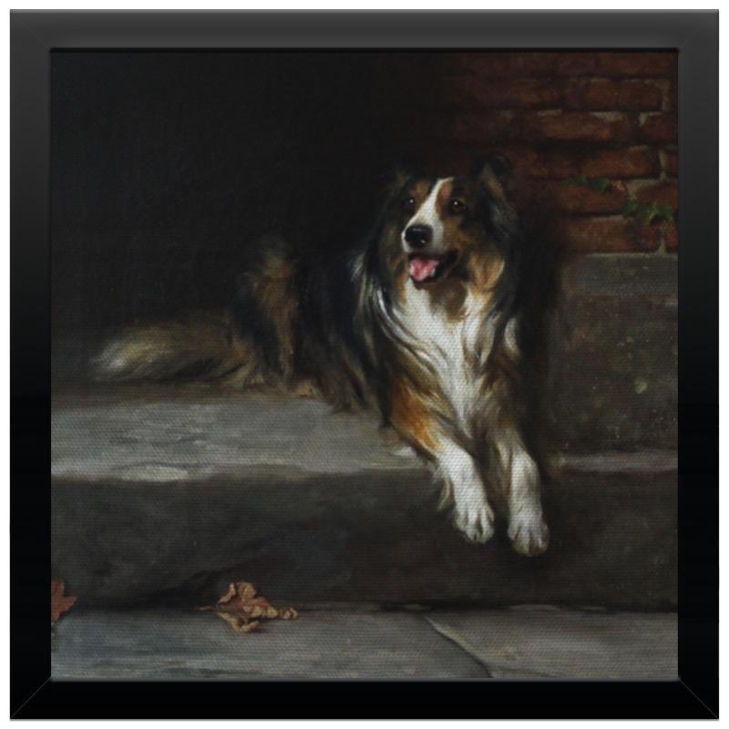 Холст 30x30 Printio Колли (картина артура вардля) картина 1245262