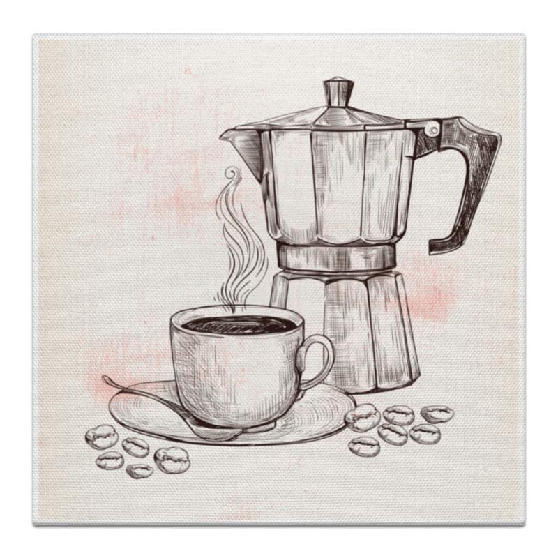 Холст 30x30 Printio Кофейник е yami сифон кофейник три поколения штрафа кофе е 1315 5d 5 частей