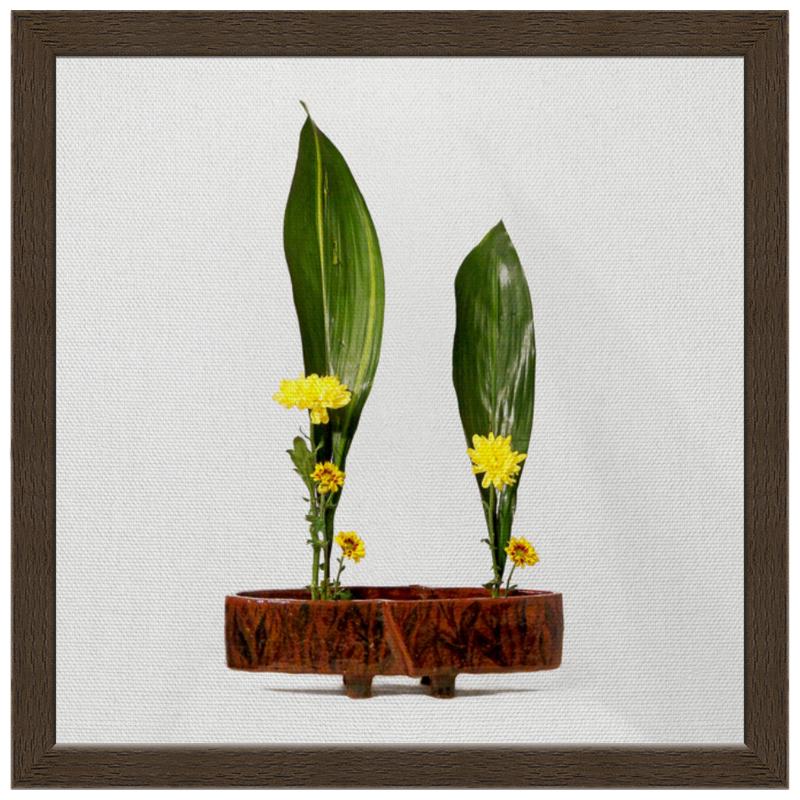 Холст 30x30 Printio Икебана / ikebana свадебная композиция