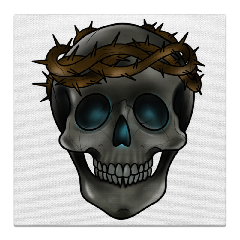 Printio Skull in a crown of thorns the thorns ullapool