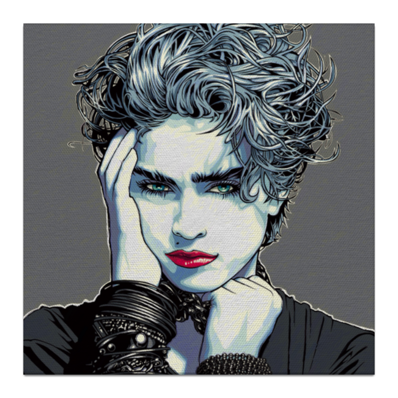 Холст 30x30 Printio Madonna louise ciccone louise elbow beach