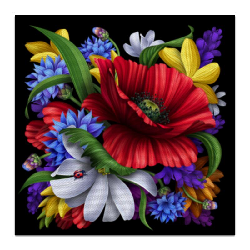Холст 30x30 Printio Композиция цветов свадебная композиция