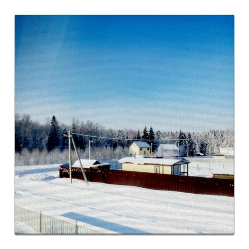 Холст 30x30 Printio Зима. мороз. солнце. холст 30x60 printio зима мороз солнце