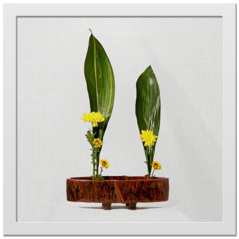 Холст 30x30 Printio Икебана / ikebana