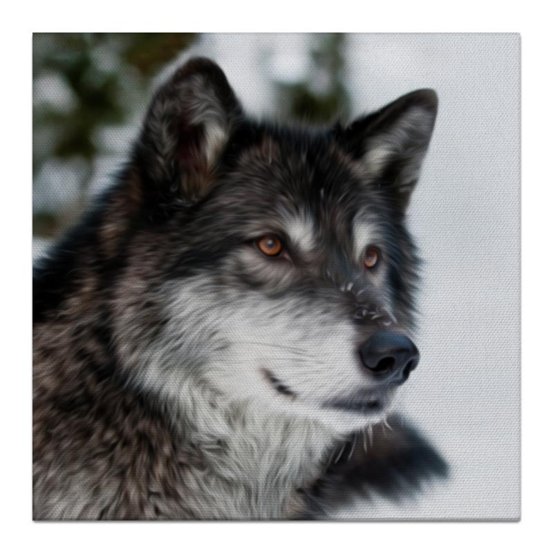 Холст 30x30 Printio Серый волк худи print bar дьявольский волк