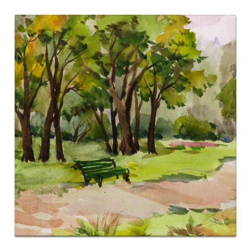 Холст 30x30 Printio Пейзаж. елагин остров. агапова ирина анатольевна давыдова маргарита алексеевна веселые праздники в школе и дома