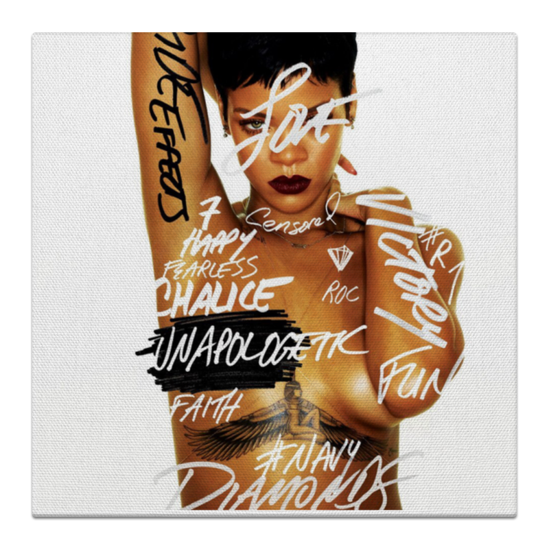 Холст 30x30 Printio Rihanna rihanna rihanna rated r 2 lp