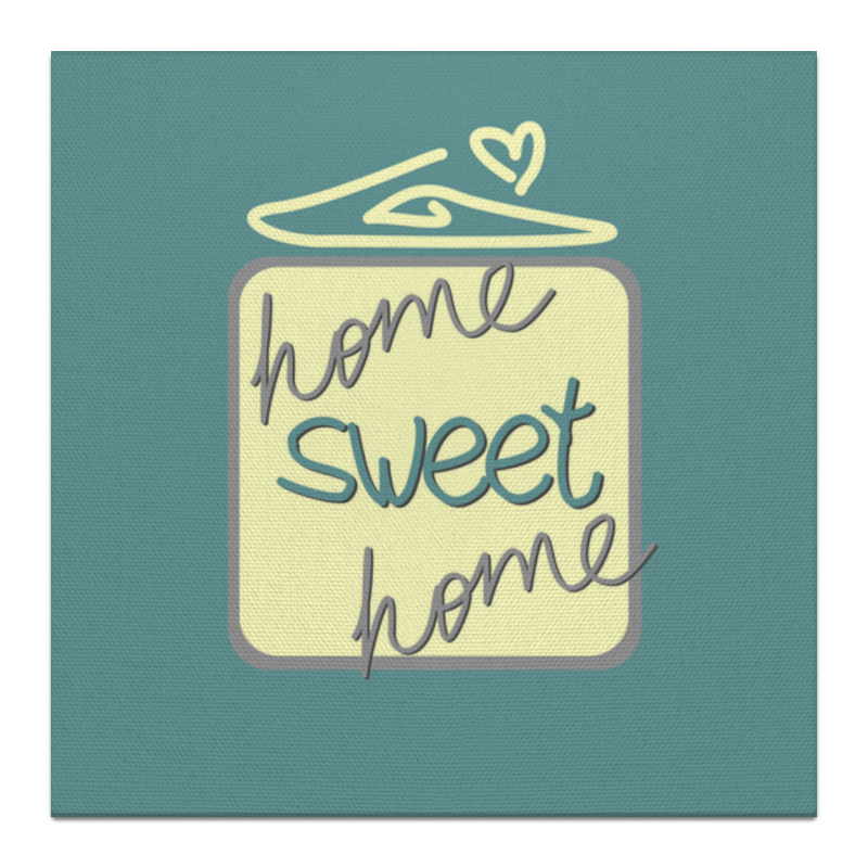 Холст 30x30 Printio Home, sweet home блокнот home sweet home ice cream а5