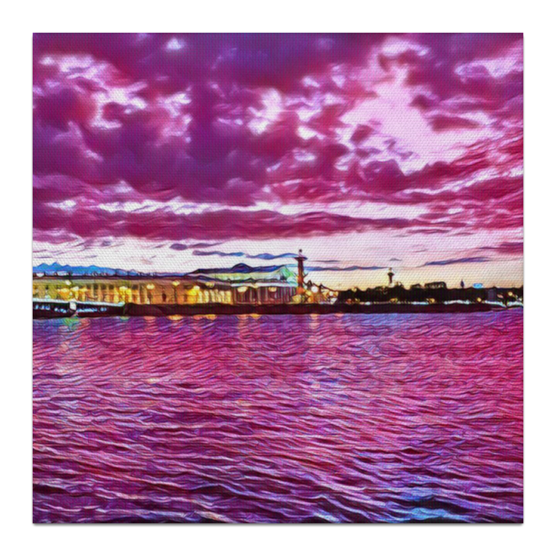 Холст 30x30 Printio Петербург петербург ноутбуков