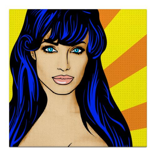 "Холст 30x30 ""Ретро поп-арт "" - арт, art, комикс, поп-арт, интерьер, цвет, яркий, pop, retro, pop-art"