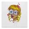 """Холст 30x30 """"Без ума от цветов"""" - любовь, девушка, цветы, сердца, блондинка"""