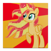 "Холст 30x30 ""Sunset Shimmer Color Line"" - sun, cutiemark, sunset shimmer"