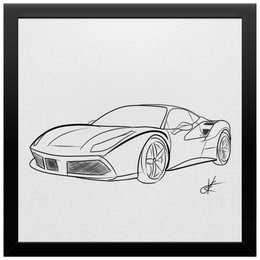 "Холст 30x30 ""Ferrari"" - авто, гонки, ferrari, car, машины"