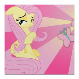 "Холст 30x30 ""Fluttershy Color Line"" - magic, fim, fluttershy, cutiemark, friendship"