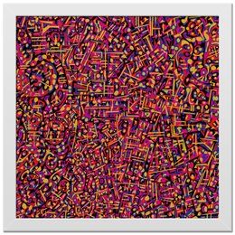 "Холст 30x30 ""Карамель."" - арт, узор, абстракция, фигуры, текстура"