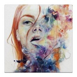 """Холст 30x30 """"Девушка"""" - арт, девушка, цвета, color, smoke"""