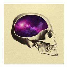 """Холст 30x30 """"Вселенная"""" - череп, арт, космос, вселенная"""