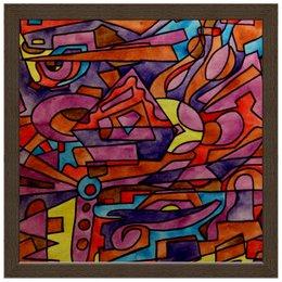 "Холст 30x30 ""DZ,P9////O`FV"" - арт, узор, абстракция, фигуры, текстура"