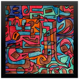 "Холст 30x30 ""KL-''''Y4V4"" - арт, узор, абстракция, текстура, фигуры"