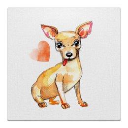 "Холст 30x30 ""Pam-pam-pam-pa-pa... Chihuahua!"" - арт, подарок, собака, чихуахуа"