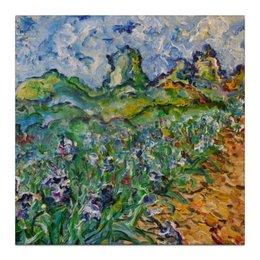 """Холст 30x30 """"Дорога цветов"""" - красота, flowers, пейзаж, живопись"""