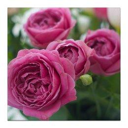 """Холст 30x30 """"Розовые розы"""" - праздник, любовь, цветы, розовый, розы"""