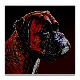 "Холст 30x30 ""Немецкий Босер"" - боксер, живая природа, немецкий боксер, собака, boxer"