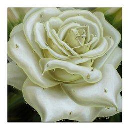 """Холст 30x30 """"Белая роза"""" - любовь, арт, цветы, innanovits-art, white rose"""