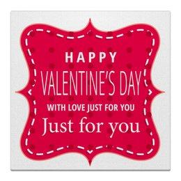 "Холст 30x30 ""День святого Валентина"" - любовь, день святого валентина, 14 февраля"