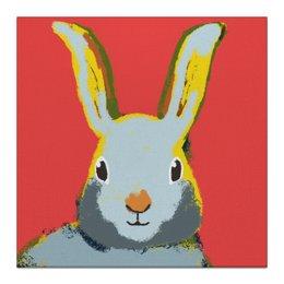 """Холст 30x30 """"Милый кролик!"""" - рисунок, детям, подарок, детская комната"""