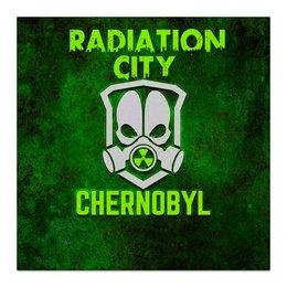 """Холст 30x30 """"Чернобыль"""" - кино, сериал, катастрофа, чернобыль, зона отчуждения"""
